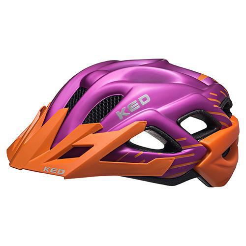 KED Helm Status Junior Orange Violet Matt