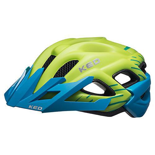 KED Helm Status Junior Green Blue Matt