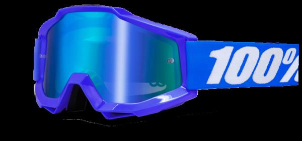 100% ACCURI Goggle anti fog mirror blue lens