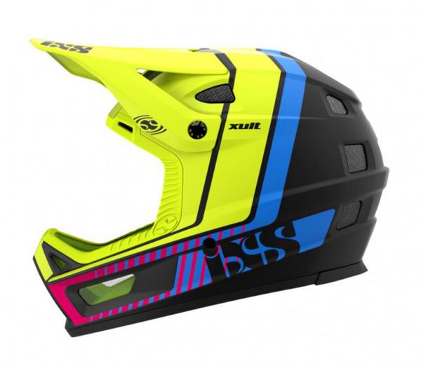 IXS XULT Helm black/blue/lime